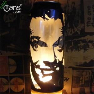 Rik Mayall Beer Can Lantern