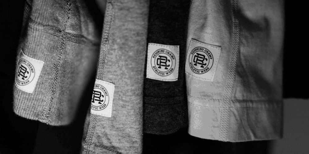 reigning champ sweats logo