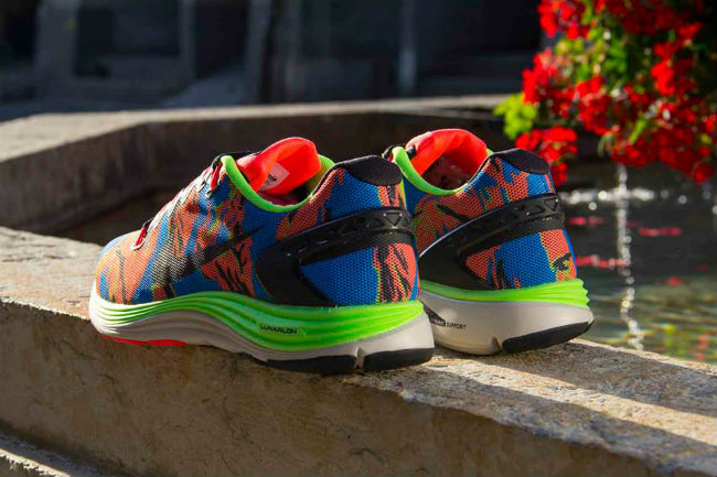 Nike Lunarglide 5 Ext Camo Flash Lime
