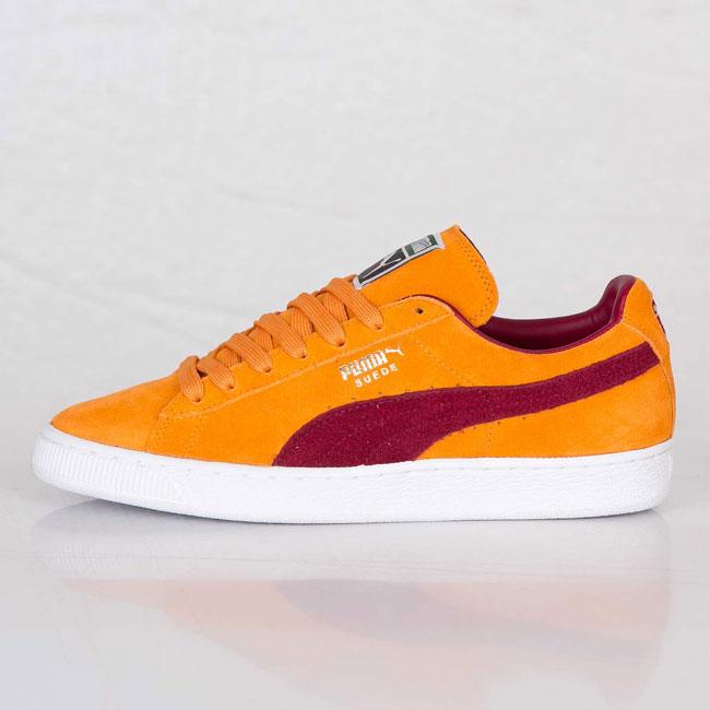 Puma Suede Classic Bright Marigold / Pomegranate