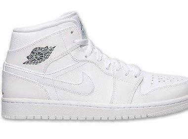 Air Jordan 1 Mid White / Cool Grey-White