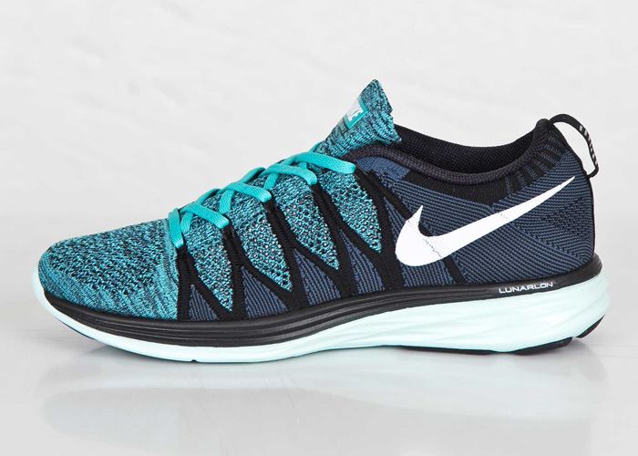 cheap for discount 22fb6 ea97c Nike Flyknit Lunar 2 Black   White   Sport Turquoise