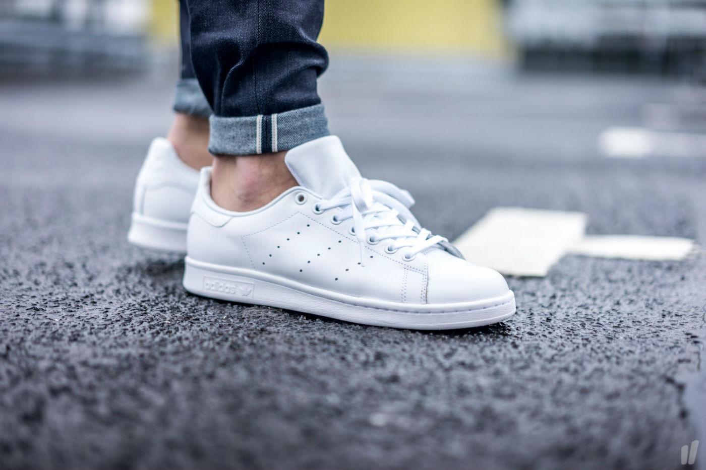 all white adidas mens