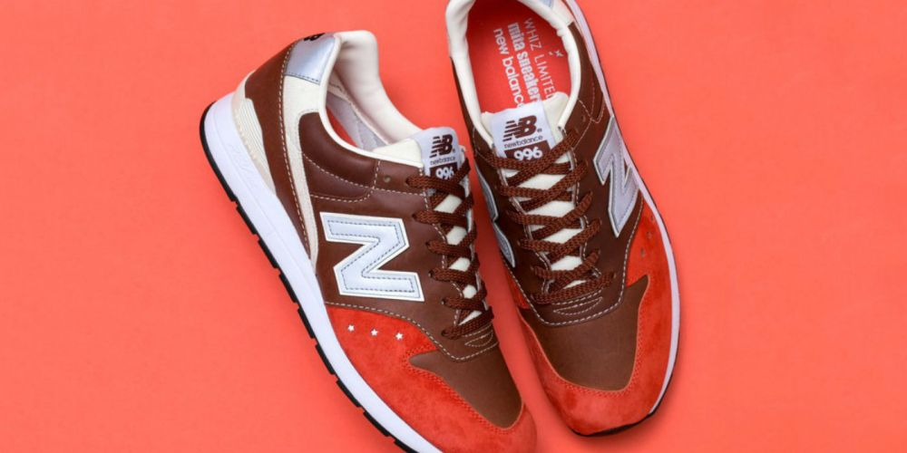 "New Balance x mita sneakers x Whiz Limited MRL996 ""Orange Rust"""