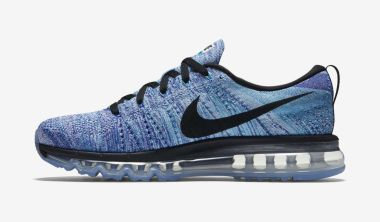 Nike Flyknit Air Max White/Chlorine Blue