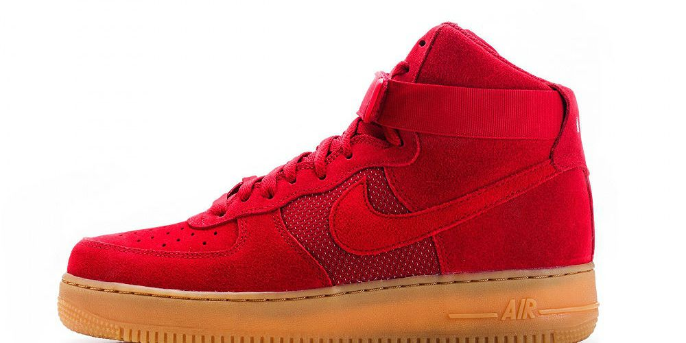 "innovative design ea5c4 1fbca Nike Air Force 1 High  07 LV8 ""Gym Red"""
