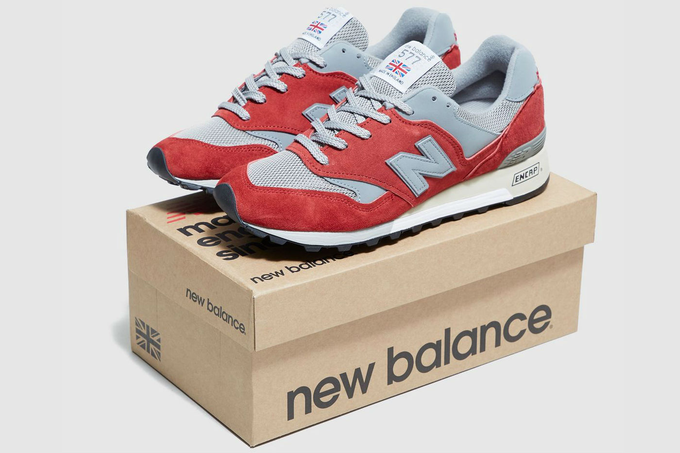 New Balance 577 Suede Takes on a Red