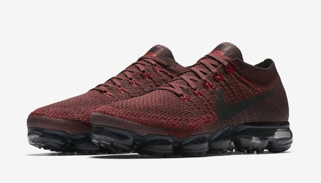 Nike Air VaporMax 'Dark Team Red': vamping up vapour-light sensations