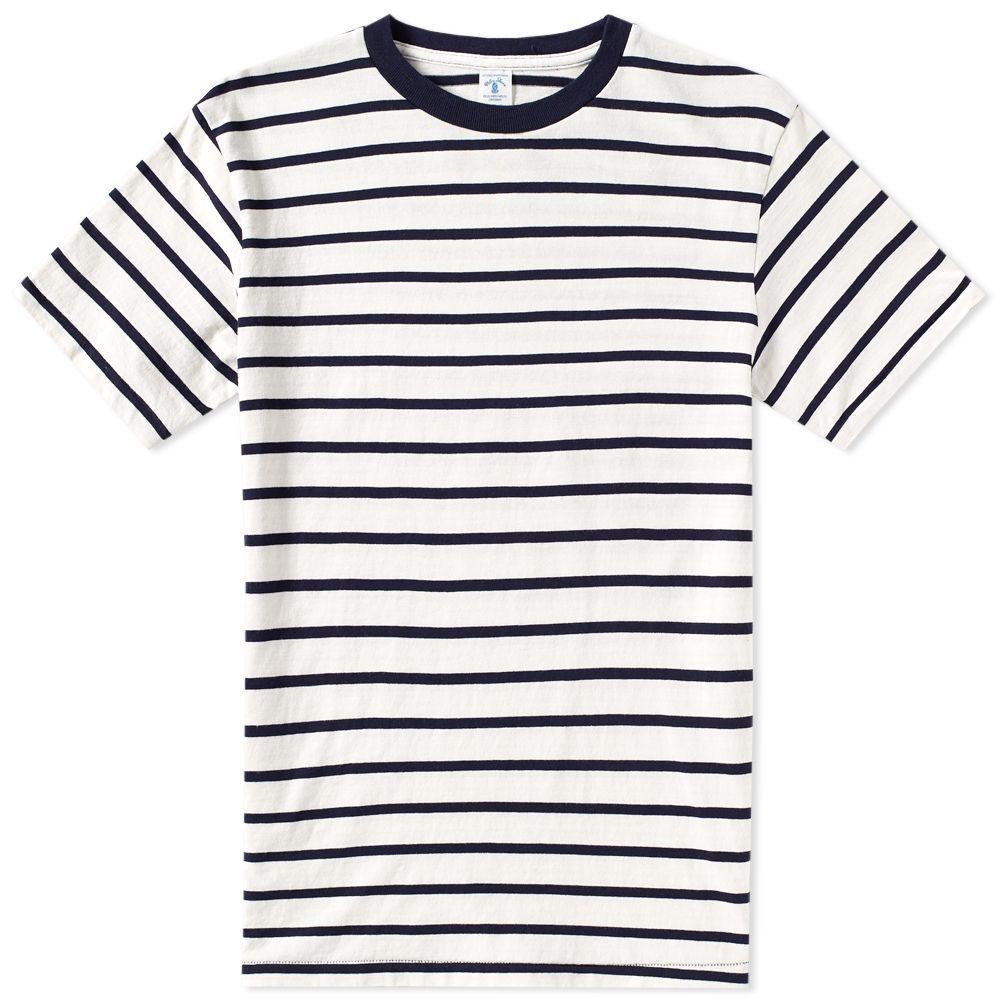 velva-sheen-uneven-stripe-tee-white-navy-161550