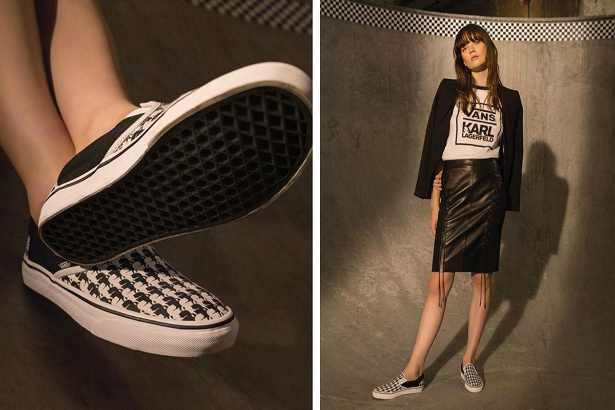 5cbec859ab Haute Couture Meets Skateboarding  Vans x Karl Lagerfeld