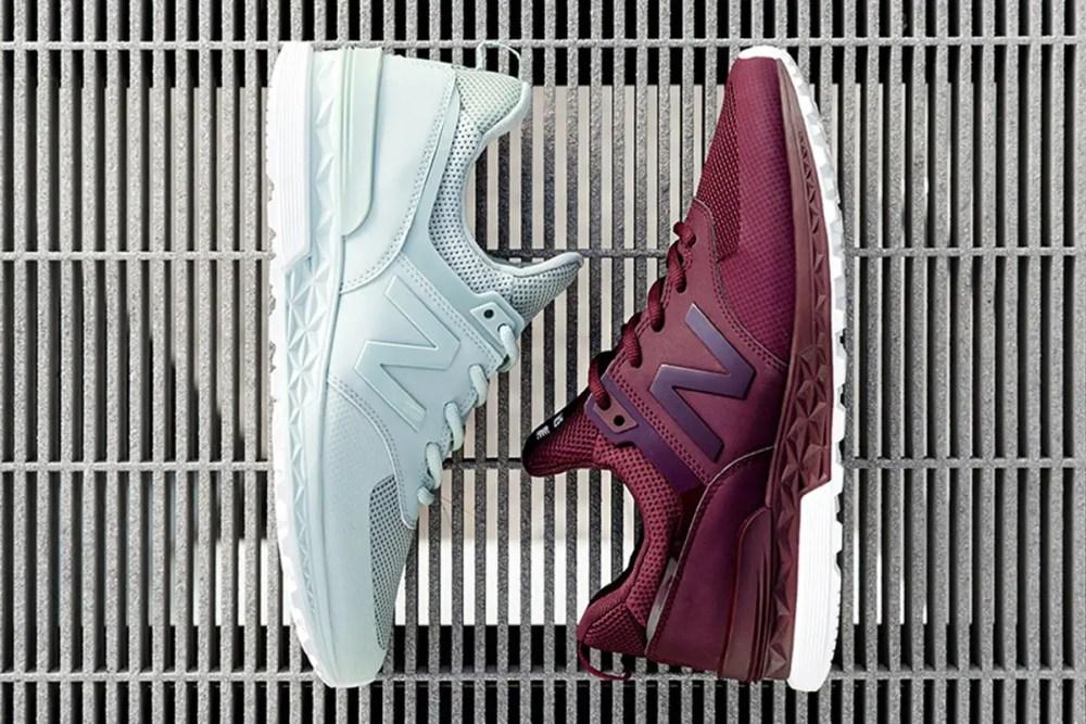 new balance 574 sport mint burgundy
