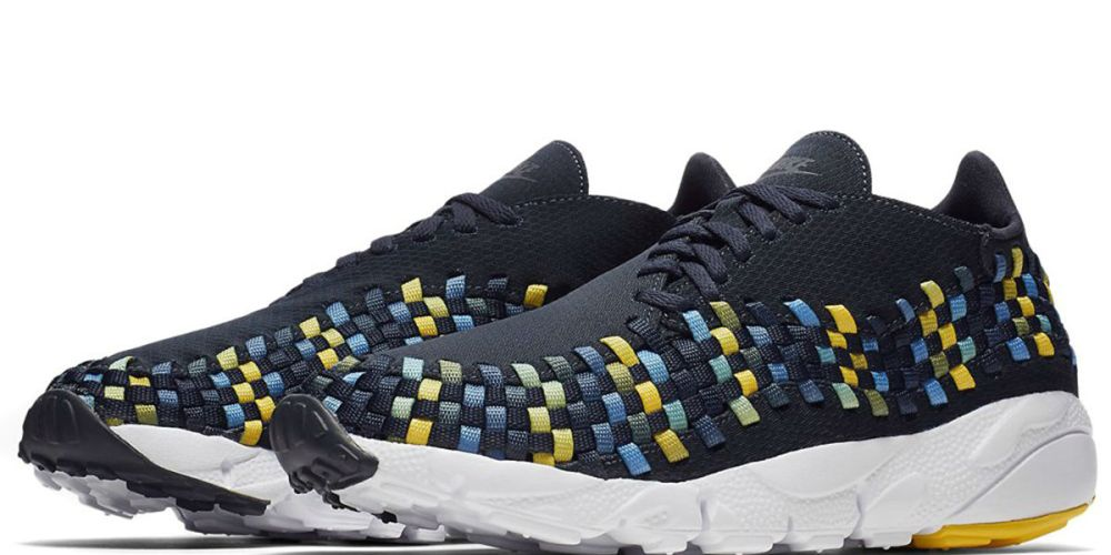 nike air footscape woven nm dark obsidian tour yellow