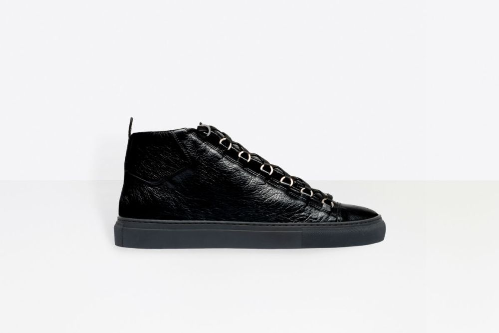 balenciaga high sneakers black