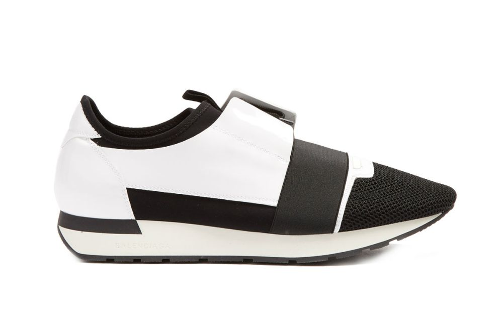 Balenciaga Race Runner Panelled Low-top Trainers Black