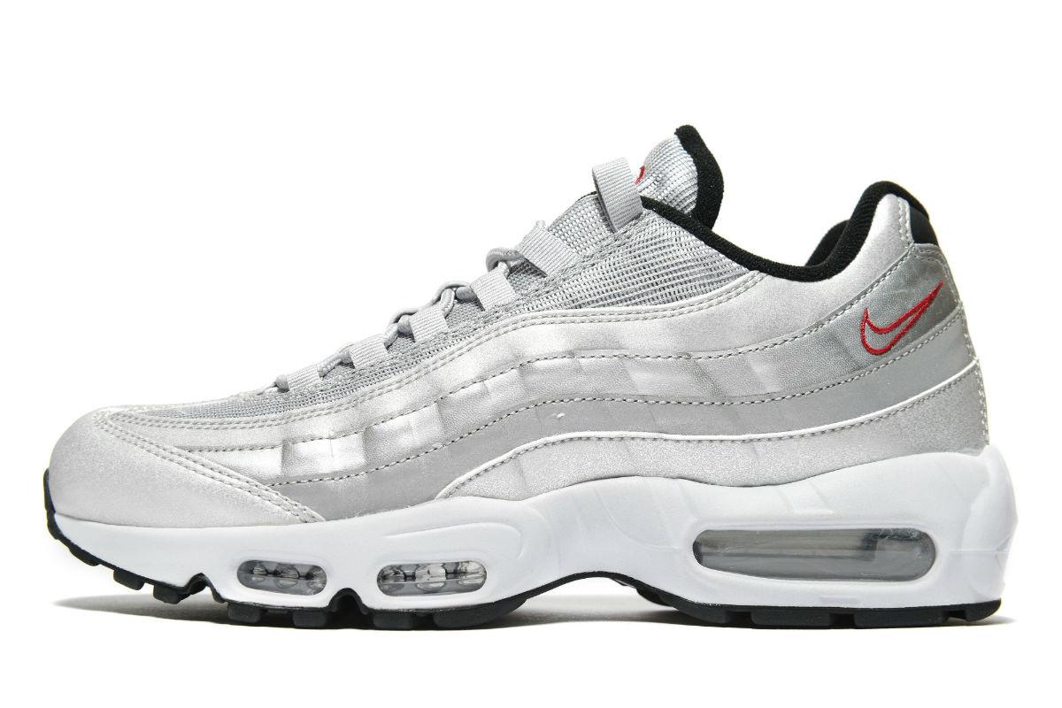 nike air max 95 silver grey
