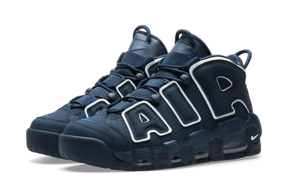NIKE AIR MORE UPTEMPO 96 OBSIDIAN, WHITE & GUM