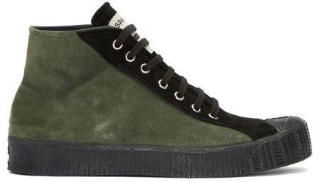 COMME des GARÇONS Shirt Green Spalwart Edition Sneakers