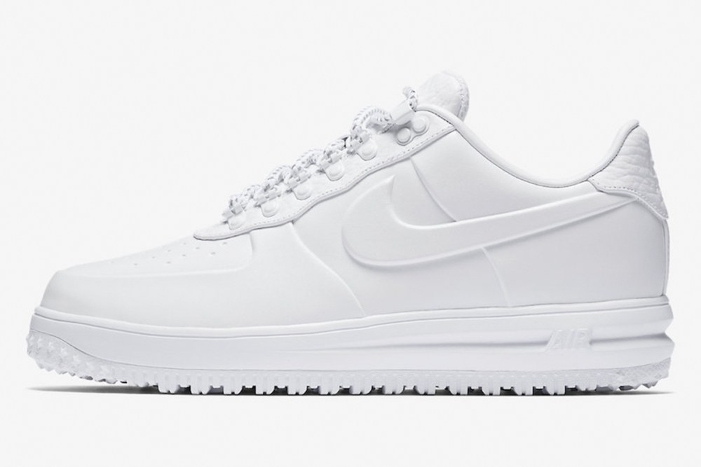 Lunar Force 1 Duckboot Low Triple White