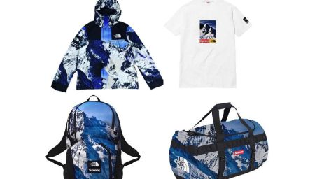 Snowy Mountains with Supreme x The North Face