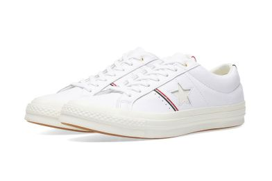 Converse One Star OX White gets some stylish tricolor detailing