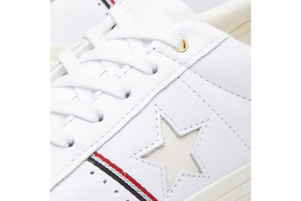 converse one star ox white enamel red