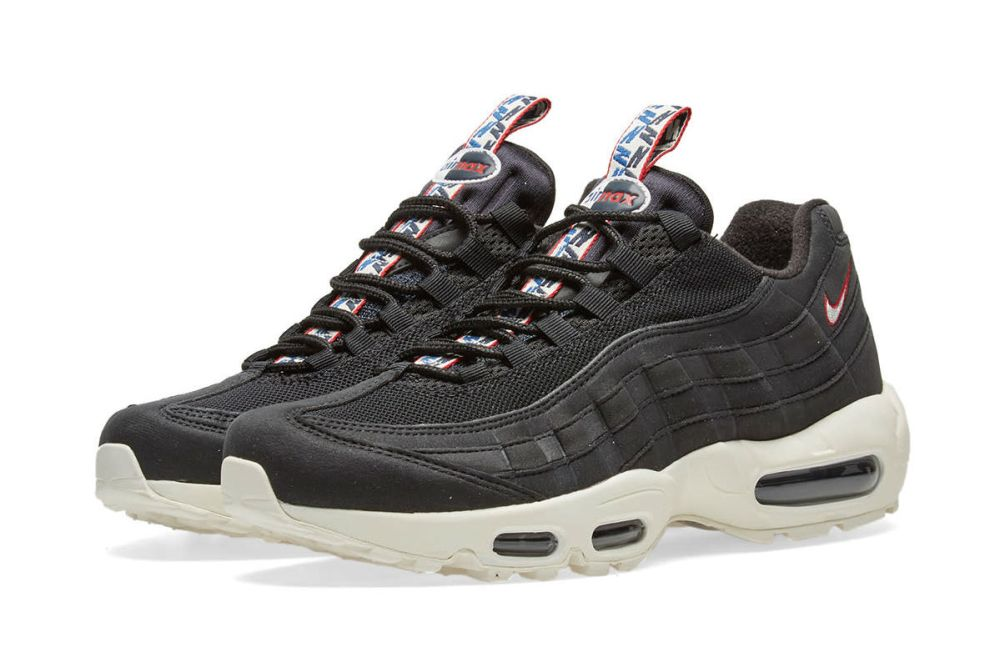 NIKE AIR MAX 95 TT BLACK, SAIL & GYM RED