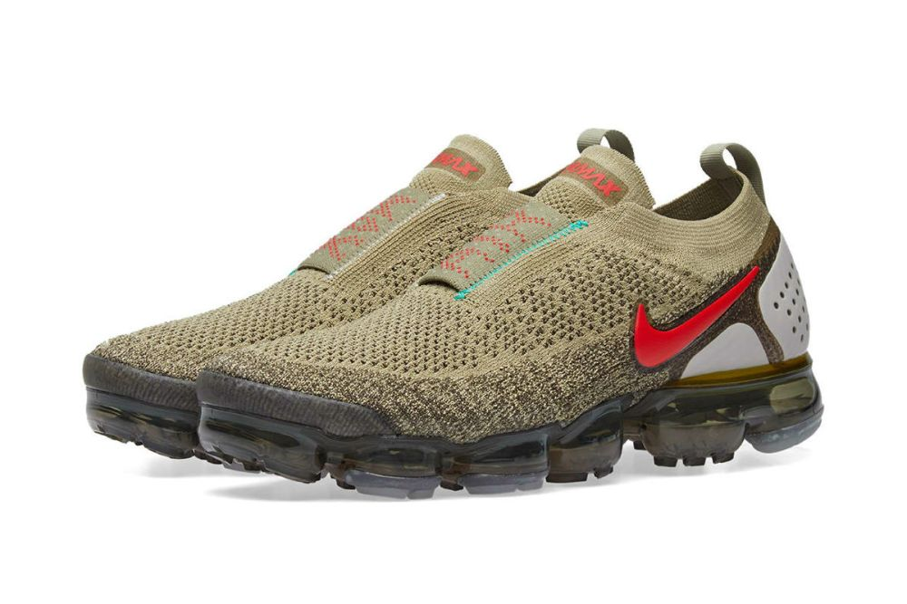 Nike Air VaporMax Flyknit Moc 2 Neutral Olive/Red