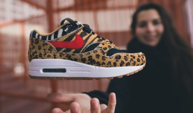 atmos nike air max 1 animal snkrgirl