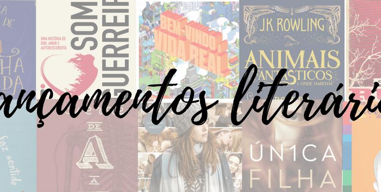 Lançamentos literários Abril