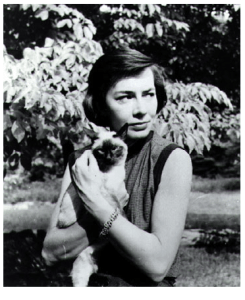 The author, with siamese cat