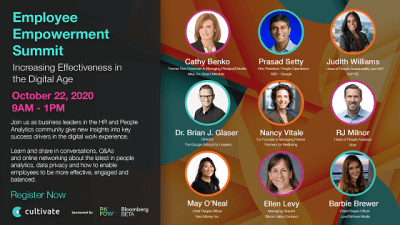 Cultivate Employee Empowerment Summit Brings Together HR and People Analytics Experts from Google, SAP, Uber and More