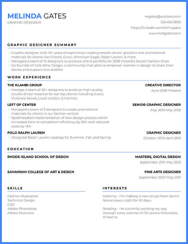 Free Resume Templates For 2020 Edit Download