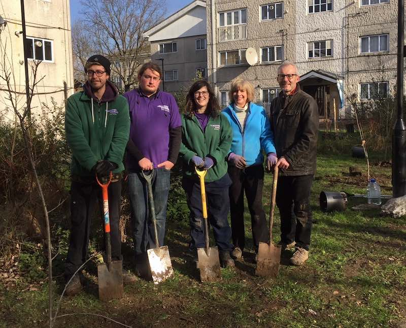Planting a public orchard trail in Hanwell