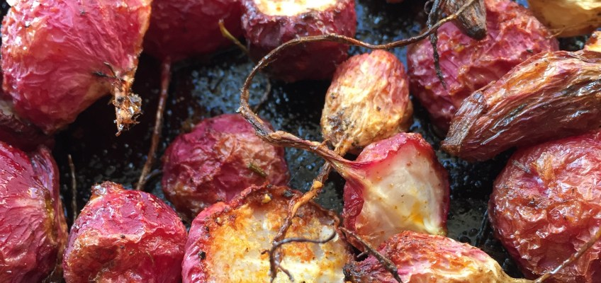 Cripsy Roasted Radishes