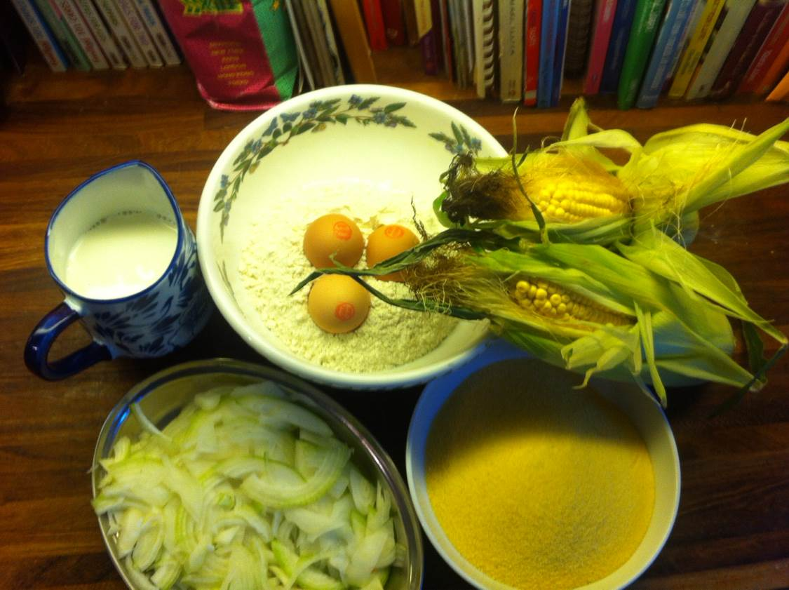 Sweetcorn ingredients