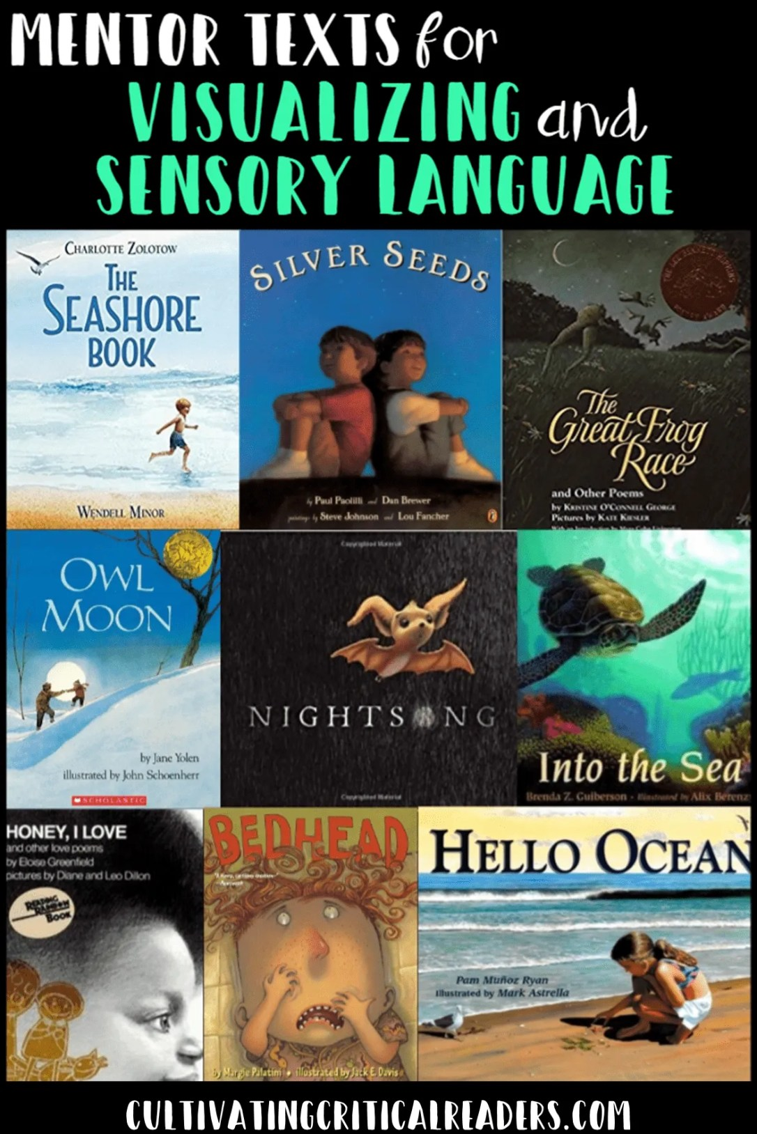 Mentor Texts for Visualizing and Sensory Language Cultivating Critical Readers