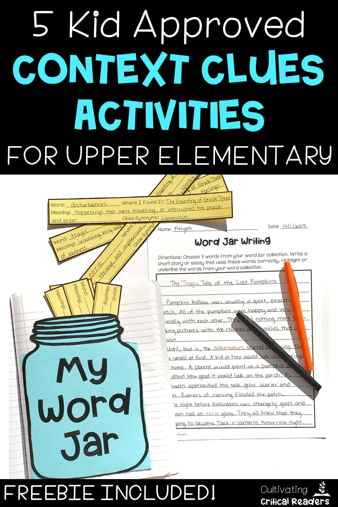 5 Kid Approved Context Clues Activities for Upper Elementary from Cultivating Critical Readers