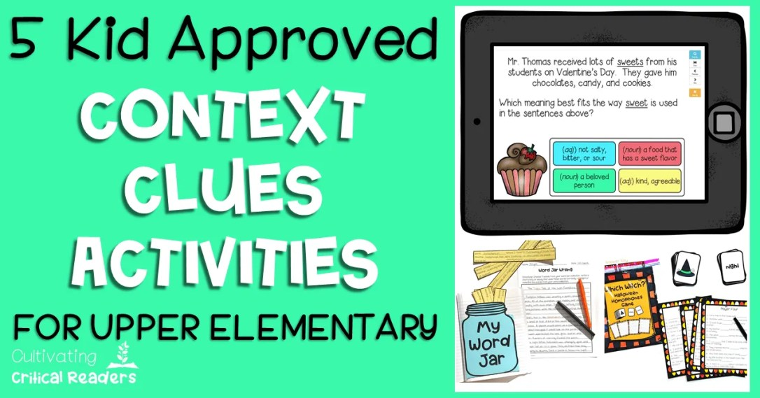 5 Kid Approved Context Clues Activities Post Image | Best for second grade reading, third grade reading, and fourth grade reading