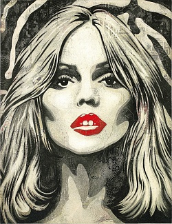 Street Artist Shepard Fairey Creates New Rock Star Portraits for Sotheby's