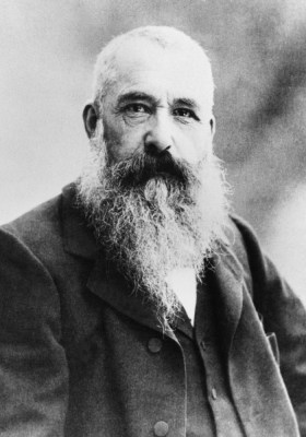 A portrait of impressionist painter Claude Monet in 1901. Monet once owned a sculpture of a cat that has recently resurfaced after years of being lost.