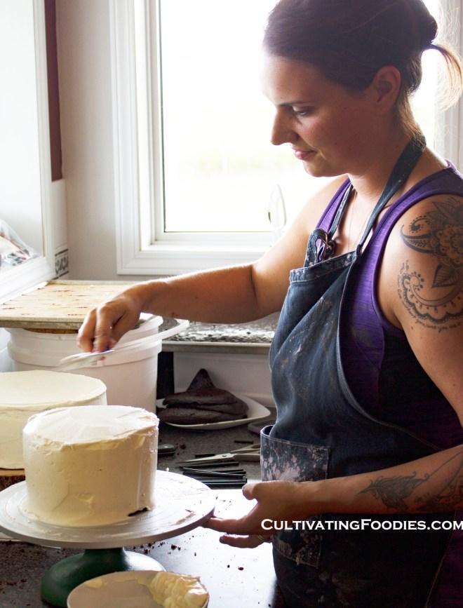 Masking wedding cake