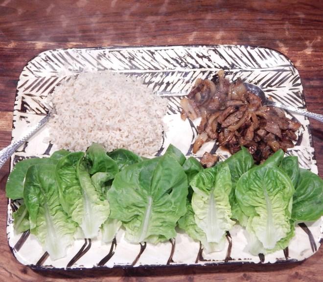 "Leftover Flank Steak with Rice and ""Little Gem"" Lettuce"
