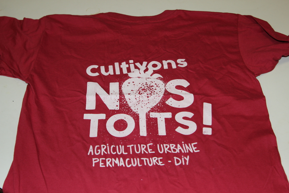 Tshirt T-shirt Tshirts T-shirts cultivons nos toits agriculture urbaine permaculture diy sérigraphie goodies