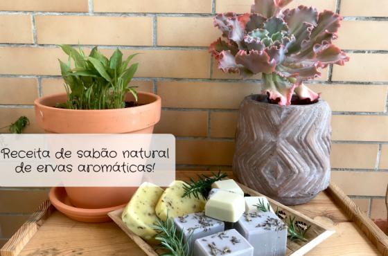 Receita de sabão natural com ervas aromáticas