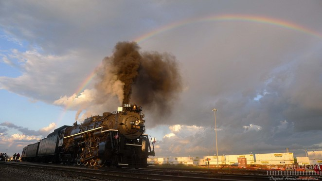 Norfolk Southern Steam Program Nickel Plate Road 765 idles Bison Yard, East Buffalo, New York