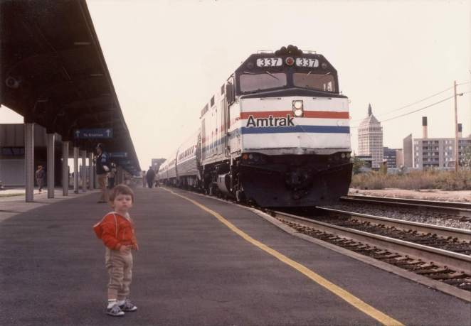 a young charlie monte verde is one of those cute kids that love trains