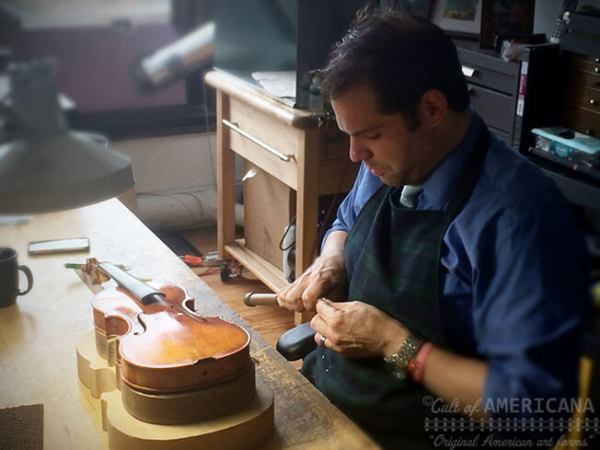 Ryan McLaughlin of McLaughlin Violins, a master luthier