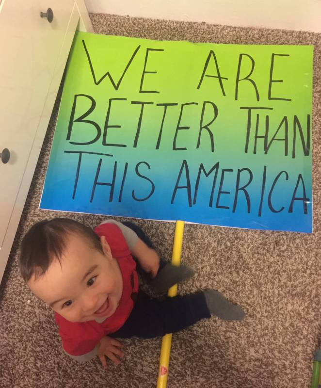 babies for change at the Chicago Women's March