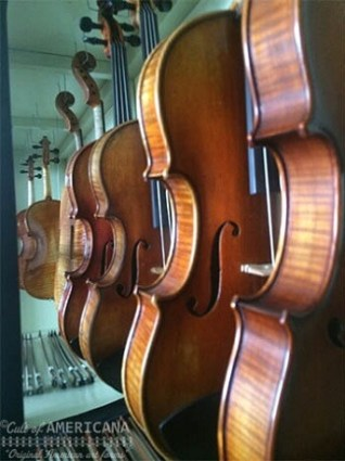McLaughlin Violins on display, the master craftsman and luthier