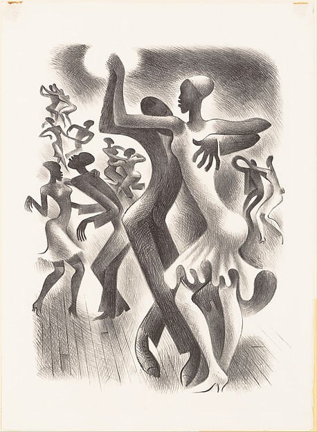 Figures engaged in dance known as 'The Lindy Hop' Artist:Miguel Covarrubias (Mexican, Mexico City 1904–1957 Mexico City)